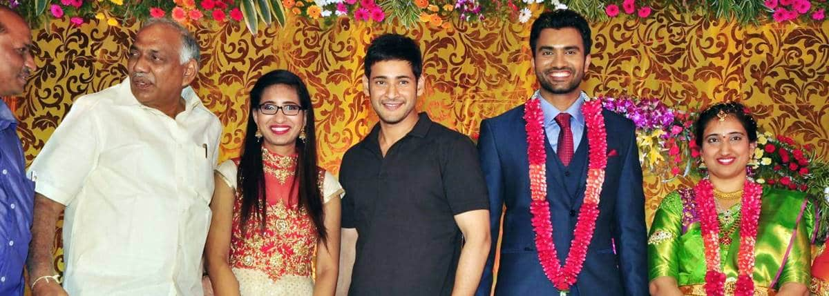 Actor Siva S O Sakhamuri Mallikarjuna Rao And Anusha Wedding Reception